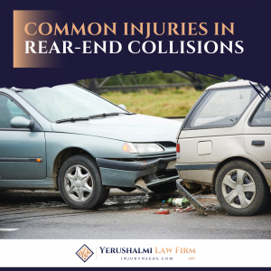 Common injuries in Rear-End Collisions